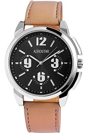 Aerostar Męski analogowy zegarek kwarcowy z imitacji skóry 21102110006