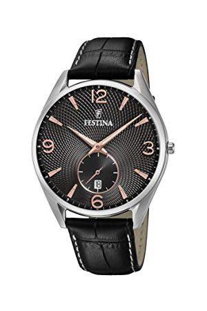 Festina F6857/9 męski analogowy zegarek kwarcowy ze skórzanym paskiem