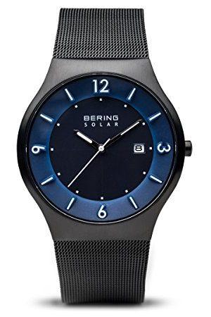 Bering Męski zegarek na rękę analogowy solarny stal szlachetna 14440-227