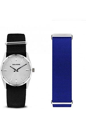 Zadig & Voltaire Uniseks dla dorosłych, analogowy zegarek kwarcowy z nylonowym paskiem ZVFA210