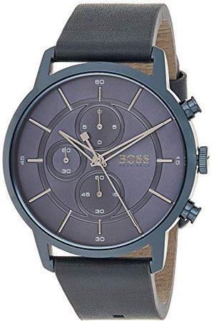 HUGO BOSS Uniseks - dorosły chronograf kwarcowy zegarek ze skórzanym paskiem 1513575