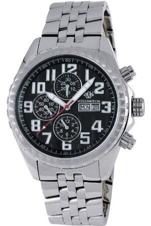 Daniel Wellington Męski automatyczny zegarek z czarnym wyświetlaczem analogowym i srebrną bransoletą ze stali nierdzewnej WN112-121