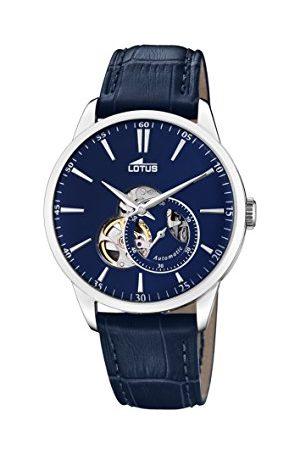 Lotus Męski analogowy klasyczny automatyczny zegarek ze skórzanym paskiem 18536/3