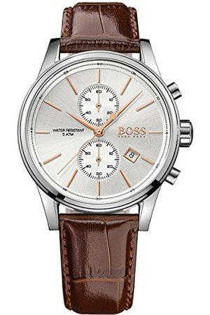 HUGO BOSS Męski zegarek na rękę JET chronograf kwarcowy skóra 1513280
