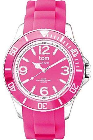 tom watch WA00129 analogowy zegarek kwarcowy dla dorosłych, z gumową bransoletką