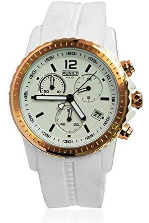 Munich Unisex dla dorosłych analogowy zegarek kwarcowy z silikonowym paskiem MU+101.7B