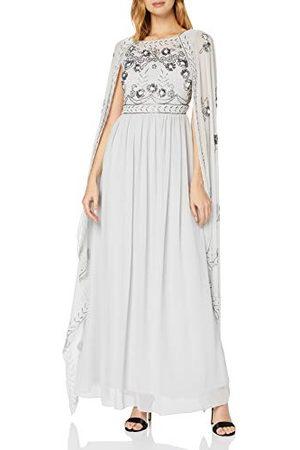 Amelia Rose Damska sukienka wieczorowa Clio Embellished Maxi Dress with Cape formalna sukienka wieczorowa