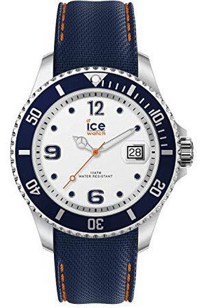 Ice-Watch ICE steel White blue - niebieski zegarek męski z silikonowym paskiem - 016772 (Large)