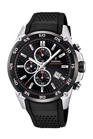 Festina Unisex Dorośli Chronograf kwarcowy zegarek z kauczukowym paskiem F20330/5