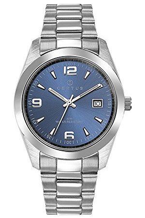 Certus Męski analogowy zegarek kwarcowy z bransoletką ze stali szlachetnej 615311