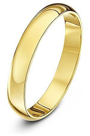 THEIA Uniseks 14-karatowe złoto super ciężki kształt D polerowany pierścionek ślubny e Żółte Złoto, O, colore: Żółte Złoto, cod. TH10900