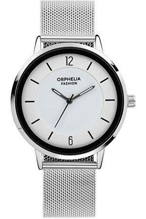 ORPHELIA Fashion męski analogowy zegarek kwarcowy Moonwalk z siateczką ze stali nierdzewnej bransoletka bransoletka srebro