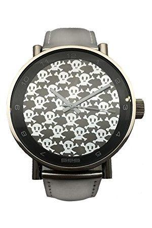 666Barcelona Uniseks dla dorosłych analogowy zegarek kwarcowy ze skórzanym paskiem 66-202