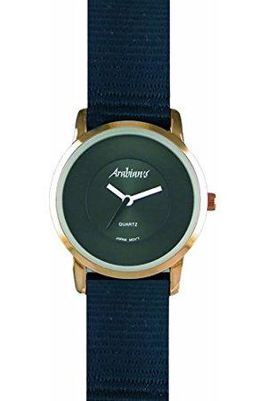 Arabians Męski analogowy zegarek kwarcowy z bransoletką z materiału DBH2187NT