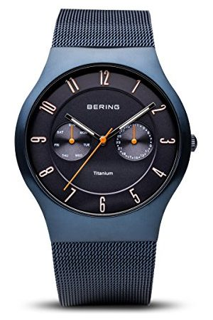 Bering Męski analogowy zegarek kwarcowy z paskiem ze stali nierdzewnej 11939-393