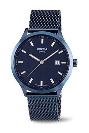 Boccia Męski analogowy zegarek kwarcowy z bransoletką ze stali szlachetnej 3614-05