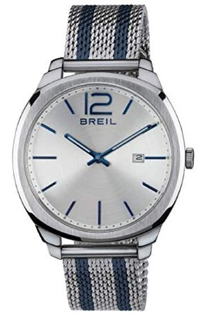 Breil Męski analogowy kwarcowy Smart Watch zegarek na rękę z materiałowym paskiem TW1728
