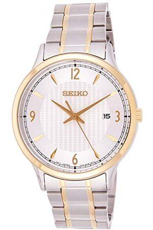 Seiko Kwarcowy zegarek męski ze stali nierdzewnej z metalowym paskiem SGEH82P1