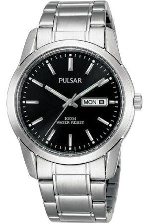 Pulsar Kwarcowy męski zegarek ze stali nierdzewnej z metalowym paskiem PJ6021X1