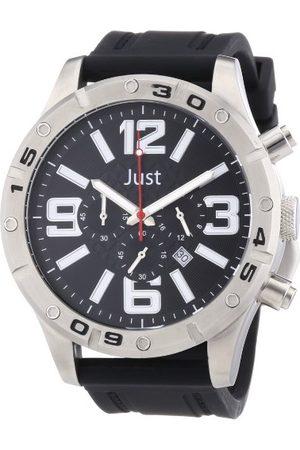 Just Watches Męski zegarek na rękę XL analogowy kwarcowy kauczuk 48-S3978-BK