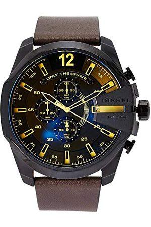 Diesel Męski chronograf kwarcowy zegarek ze skórzanym paskiem DZ4401