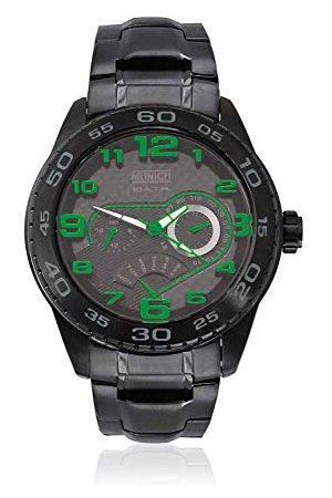 Munich Unisex dla dorosłych analogowy zegarek kwarcowy z bransoletką ze stali szlachetnej MU+140.1C