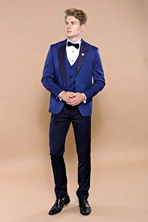 Wessi Męskie slim fit smoking z wzorem w kropki Tuxedo