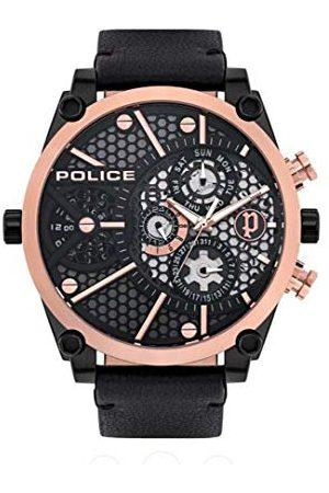 Police Unisex dla dorosłych analogowy zegarek kwarcowy ze skórzanym paskiem PL15381JSBR.61