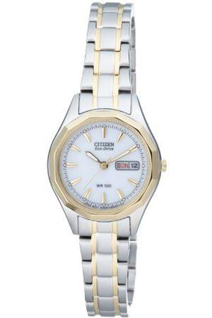 Citizen Damski analogowy kwarcowy zegarek z bransoletką ze stali szlachetnej EW3144-51AE