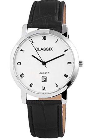 CLASSIX Męski analogowy zegarek kwarcowy ze skórzanym paskiem RP3102210001