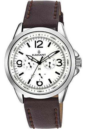 Radiant Męski chronograf kwarcowy zegarek ze skórzanym paskiem RA413702