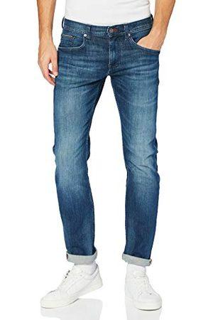 Tommy Hilfiger Męskie spodnie Straight Denton Pstr Gaines niebieskie