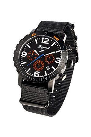 BOGEY Męski chronograf kwarcowy zegarek z gumową bransoletką BSFS001ORBK