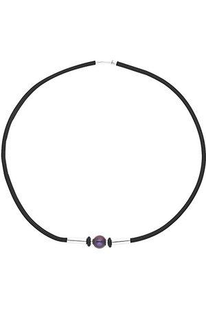Pearls & Colors Męska perła słodkowodna ze srebra wysokiej próby 925, szlif okrągły