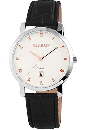 CLASSIX Męski analogowy zegarek kwarcowy ze skórzanym paskiem RP310220001