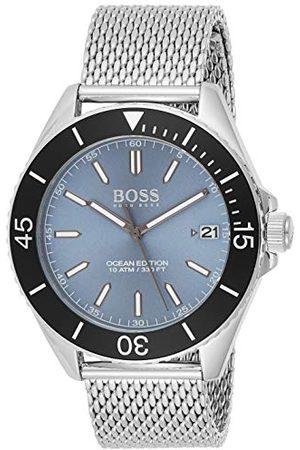 HUGO BOSS Unisex-dorosły analogowy klasyczny kwarcowy połączony zegarek na rękę z paskiem ze stali nierdzewnej 1513561