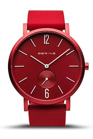 Bering Unisex analogowy zegarek kwarcowy z silikonowym paskiem 16940-599
