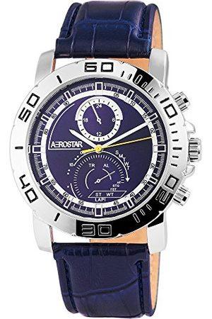 Aerostar Męski analogowy zegarek kwarcowy z imitacji skóry 21102300003