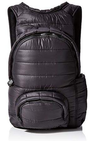 Morikukko Uniseks - dorosły plecak z kapturem z bufowanym czarnym plecakiem (puffed Black Black)