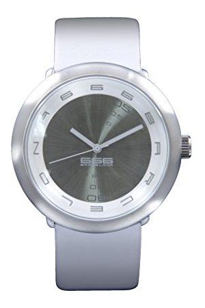 666Barcelona Męski analogowy zegarek kwarcowy ze skórzanym paskiem 66-233