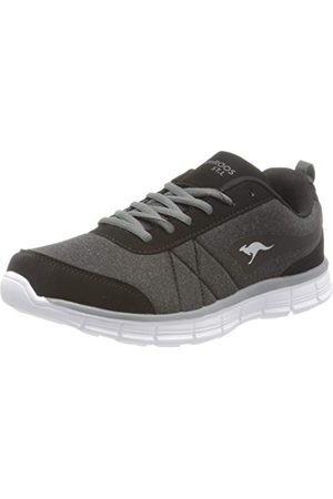 KangaROOS Kr-run Ref damskie buty typu sneaker, - Schwarz Jet Black Steel Grey 5003-41 EU