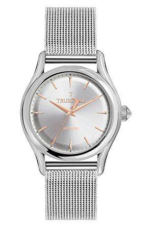 Trussardi Męski analogowy zegarek kwarcowy z bransoletką ze stali szlachetnej R2453127003