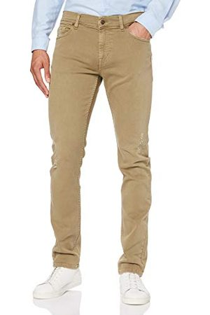 7 for all Mankind Ronnie Left Hand Colors Sandcastle Skinny dżinsy męskie