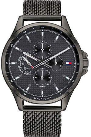 Tommy Hilfiger Męski wielofunkcyjny zegarek kwarcowy z paskiem ze stali nierdzewnej 1791613