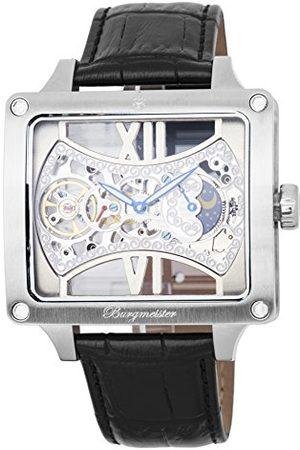 Burgmeister Męski data klasyczny zegarek mechaniczny ze skórzanym paskiem BM234-102