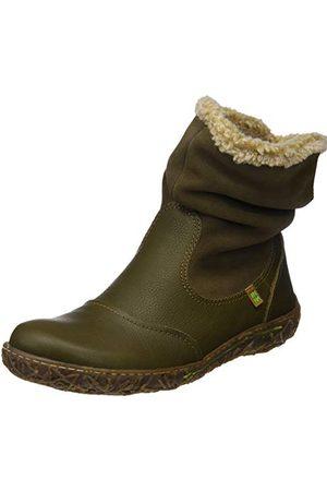 El Naturalista N758 Soft Grain-lux buty damskie z krótką cholewką, - Grün Olive Olive - 36 EU