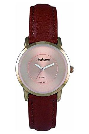 Arabians Męski analogowy zegarek kwarcowy ze skórzanym paskiem DBH2187R