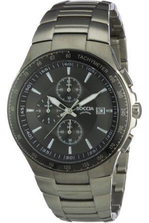 Boccia Męski zegarek kwarcowy chronograf z tytanową bransoletką – B3773-01