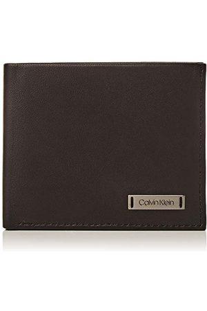 Calvin Klein Smooth W Plaque Slimfold 6cc etui na karty kredytowe, czarne (czarne), 0,1 x 0,1 x 0,1 cm