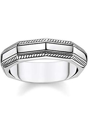 Thomas Sabo Unisex pierścionek prostokątny srebrny 925 srebro szterlingowe TR2276-637-21-48